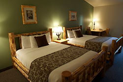 Two Queen beds in comfortable, spacious surroundings.